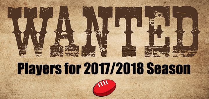 Players Wanted for 2018 Season